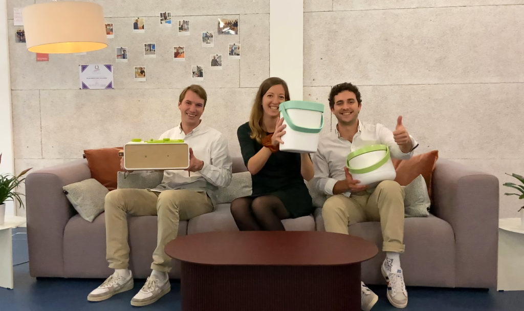 Up Green recycling l'équipe Aude Ambrosini Tim Coutherez Luca Fazzone Pulse Incubateur Hes